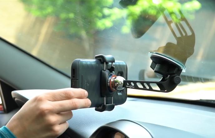 奈爱NiteIze 挡风玻璃夹臂款手机支架套装