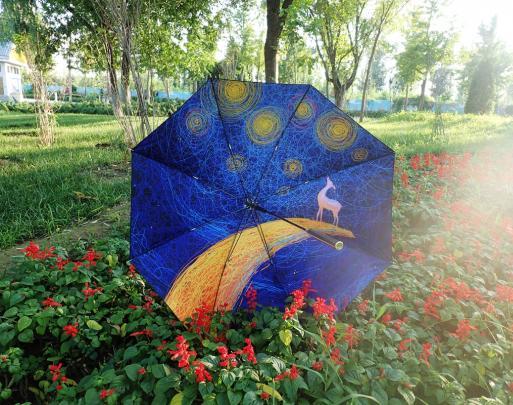 一把伞=雨伞+防晒霜+随身空调+防狼神器  帅炸!