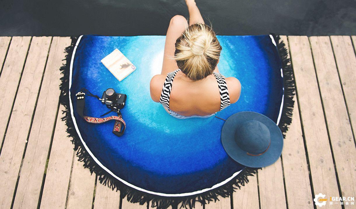 Vagabond圆形海滩巾 可随心浪的居家户外装备