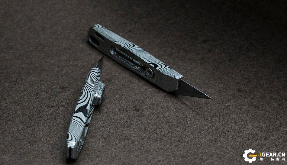 NAITHAWK【蜂刃】大马士革花纹钢收藏级小型美工刀华丽亮相